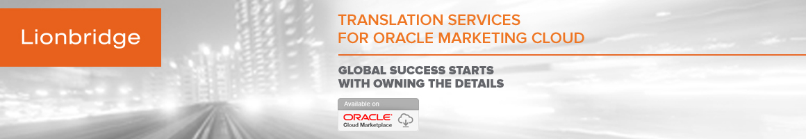 Translation Services for Oracle Marketing Cloud