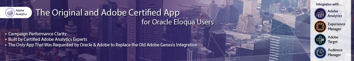 Adobe Analytics Oracle Eloqua App Banner