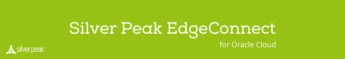 Silver Peak Unity EdgeConnect SD-WAN Solution